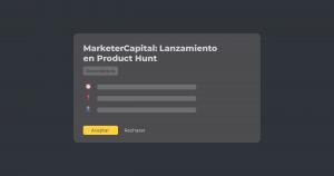 Recordatorio de lanzamiento en Product Hunt