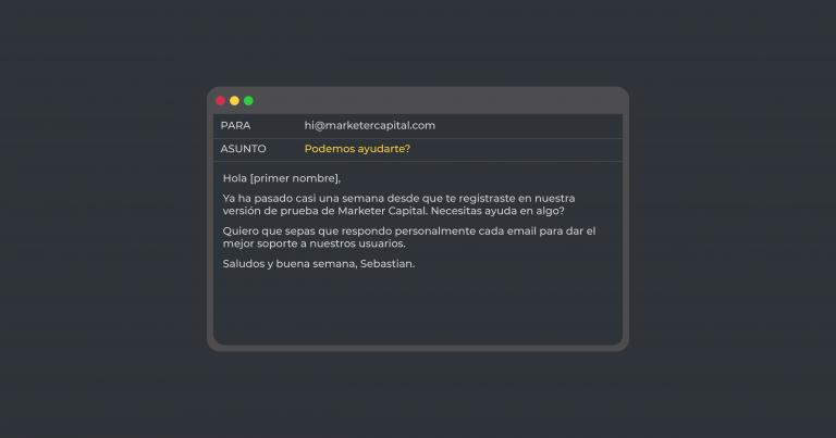 Soporte proactivo a los usuarios