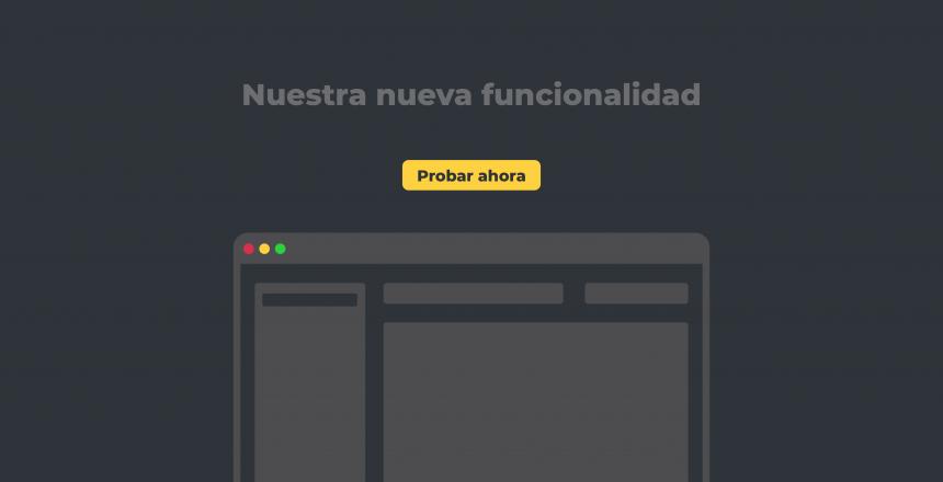 Lanzamiento de funcionalidad con landing page