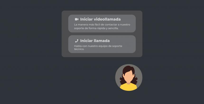 Opción de video chat para web