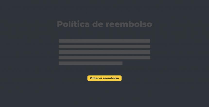 Políticas flexibles para reembolsos