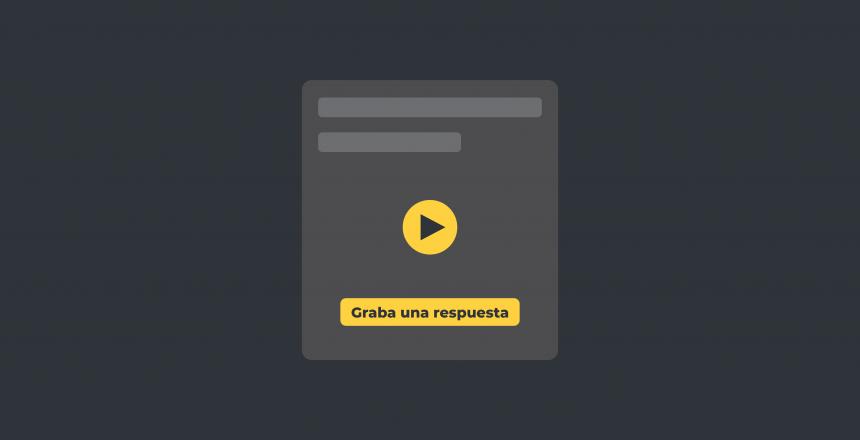 Video testimonios en modo automático